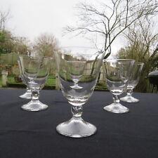6 verres a vin en cristal  signé  DAUM FRANCE modèle orval LOT 2
