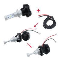 2Pcs H7 LED Headlight Bulb Retainers Holder Adapter for VW Volkswagen Golf 7 MK7