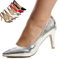 Noble Zapatos de Tacón Fiesta Boda Mujer Tacones Altos Estilete Brillo