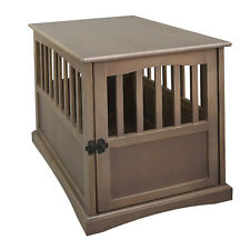 Casual Home Medium Wooden Pet Crate Dog House End Table Night Stand, Taupe Gray