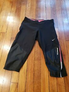 Nike Cropped Pants Black Xs With Pink Accents