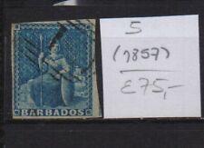 ! Barbados 1857.  Stamp. YT#5 . €75.00 !