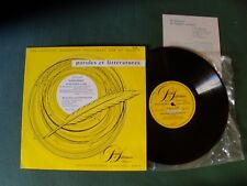 "WORDSWORTH, MISS MITFORD, JANE AUSTEN 10"" LP PAROLES et LITTERATURES PL-an-103"
