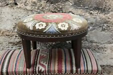 Ottoman Stool,Suzani Upholstery Stool,Rectange Kilim Stool,Foot stool