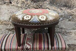 Ottoman Stool,Suzani Upholstery Stool,Rectange Kilim Stool,Foot stool