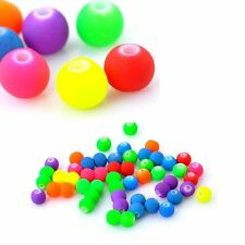 Mixed Acrylic Round Bright Color Spacer Beads 6mm, 480 Pack (1.4mm Hole)