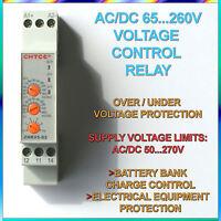Ac/Dc 65v~260v Protección contra sobre / bajo Voltaje Ajustable Protector Relé