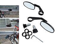 Pair BLACK Quality CNC Machined Aluminium Cafe Racer Motorbike Bar End Mirrors