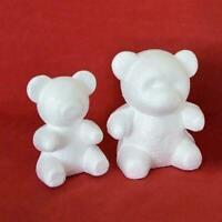 White Polystyrene Styrofoam Foam Bear Modelling DIY Deko Birthday Valentine E1T7