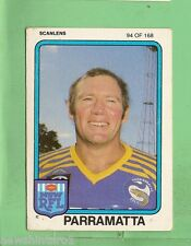 1981  PARRAMATTA  EELS  SCANLENS RUGBY LEAGUE CARD #94  BOB O'REILLY