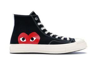 Scarpe Shoes Converse x Comme des Garcons Play alte nere black high Original