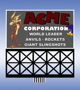 Miller Engineering (HO/N Scale) #44-3752 ACME Billboard Sign NIB