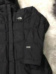 the north face womens Long Black jacket Size small