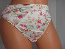Victoria's Secret Excellent Vintage Roses Second Skin Satin Panty Size M NWT