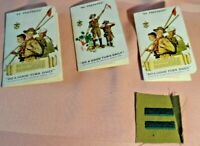 Lot of 3 Boy Scout Membership Record Cards 1940-41 + Bar Badge Exc. Cond.