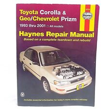 Toyota Corolla & Geo / Chevrolet Prizm Car Repair Manual Book Haynes '93-'01
