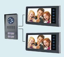 """Videocitofono 7""""(2 monitor + 1 telecamera 2 tasti) Bifamiliare colori (154)"""