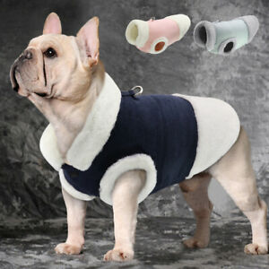 Dog Coat Small Fleece Lined Pet Cat Puppy Winter Jacket Vest Warm Dog Clothes