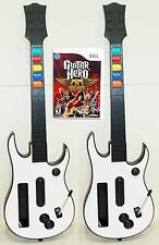 2 NEW Nintendo Wii-U/Wii GUITAR HERO Controllers + Aerosmith Game Kit bundle set