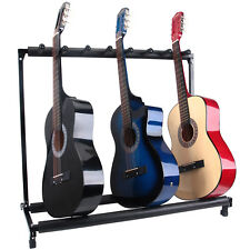 Modern 7 Holder Folding Guitar Stand Rack Band Stage Bass Electric Acoustic