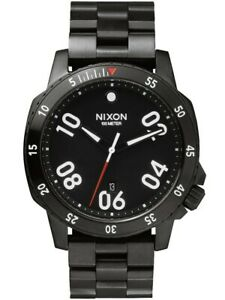 Nixon Ranger All Black A506 001 44mm Stainless Steel Watch - FREE EXPRESS POST