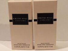 Lot Of 2 Faith Hill EDT Perfume Spray For Women - 0.375 oz each