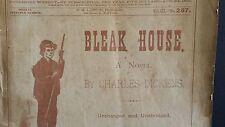 CHARLES DICKENS NOVEL BLEAK HOUSE LEISURE HOUR LIBRARY NO 257  AUG 24 1889