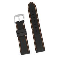 Bracelet De Montre En Caoutchouc Silicone Étanche Pour