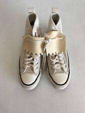 NEW Visvim Women's Skagway Kiltie High-Top Sneakers - White Ivory - 8US  (Q17)