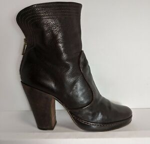 ↪ Fiorentini+Baker Brown Leather Ankle Boots Women US 6.5 EU 36.5 Made In Italy