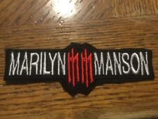 Marilyn Manson Embroidered Patch 4� x 1.5� Sew or Iron On Rock