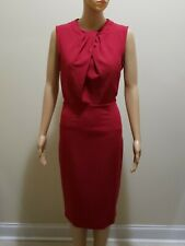 Womens Asos Elegant Pencil Dress in Red US Size 8/UK 12 Pre Owned
