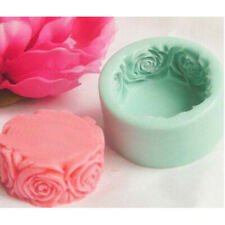 70*32mm Soap Mold Candle Molds Round Rose Flowers Silicone Mould For Candy Craft