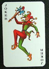 1 x Joker playing card single swap - Agatha Christie writer - AD216