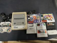 Super Nintendo, SNES console, 2 controllers, 5 games, all tested, working.