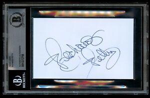 Richard Petty signed autograph 3x5 index card NASCAR Racing Legend BAS Slabbed
