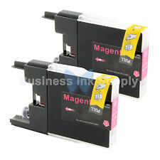2 MAGENTA LC71 LC75 Ink Cartridge for Brother MFC-J5910DW MFC-J625DW MFC-J6510DW