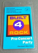 1995 Led Zeppelin Rock N Roll Hall Of Fame Laminated Backstage Pass Party