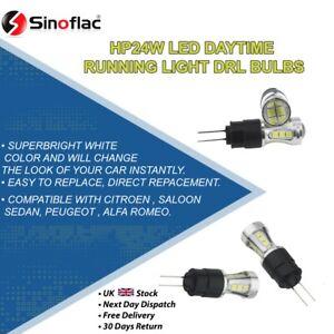Sinoflac 2 X HP24 W G4 led bulb Daytime Running Light Citroen C5 Peugeot