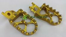 Pedane maggiorate ORO ergal CNC alluminio KAWASAKI KXF450 KX450F KXF 450 07-18