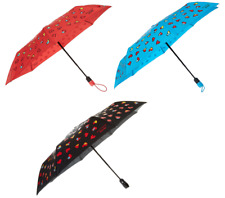MOSCHINO Automatic Umbrella with Love Hearts Black Blue or Coral