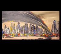 NEW YORK CITY  Large Abstract Modern Original Oil Painting by Mark Kazav RYWETH