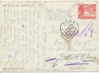 """SCHWEIZ 1954 25 C Seedamm Melide EF AK m. Edelweiss-K2 """"ZERMATT / AM MATTERHORN"""""""