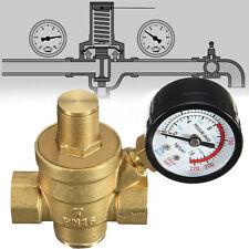 DN15 NPT ½'' Adjustable Brass Water Pressure Regulator Reducer With Gauge Meter