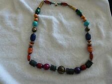 """NECKLACE - BEAUTIFUL MULTI COLORED BEADS - 25"""""""