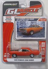 GREENLIGHT GL MUSCLE SERIES 16 1970 PLYMOUTH ROAD RUNNER 440-6 PACK Hemi Orange