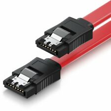 0,5m SATA Kabel S-ATA 6 Gb/s High Speed SSD Datenkabel Clip HDD SSD gerade rot
