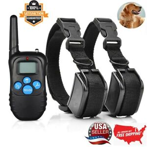 Profession Dog Shock Training Collar Rechargeable LCD Remote Control Waterproof