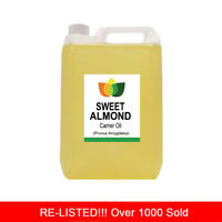 5L SWEET ALMOND OIL PREMIUM Cold Pressed Natural Carrier/Base 5 Litre
