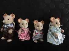 Sylvanian Families Maces Mouse Family Rare Retired